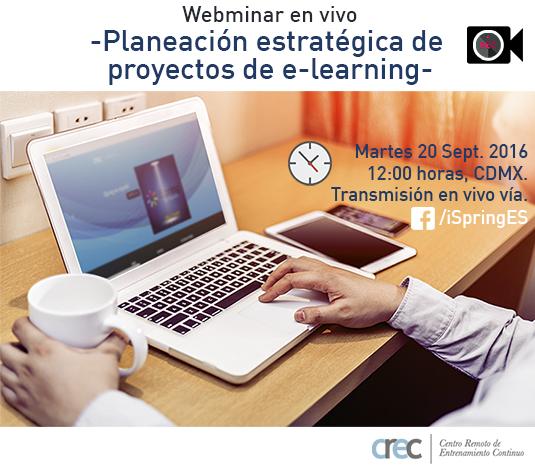 Planeación Estratégica de Proyectos de e-Learning | Webinar